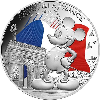 50€ colorisée - Mickey sur les Champs Élysées
