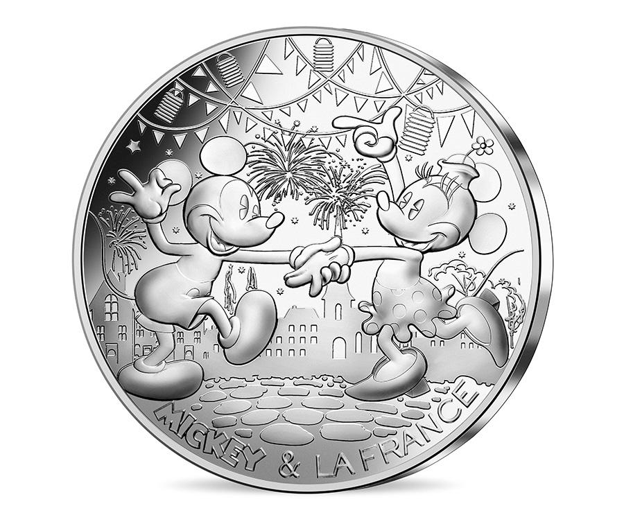 Mickey 50€ argent 900 % - le bal du 14 juillet