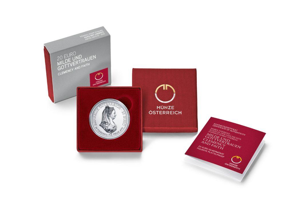 20 Euro Argent 300 ème anniversaire de l'Impératrice Marie-Thérèse - Monnaie d'Autriche 2018