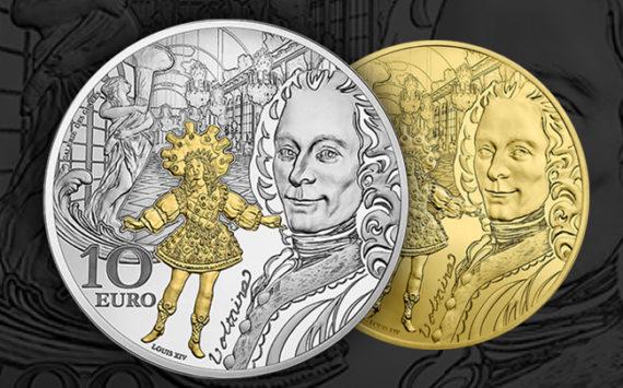 Voltaire et le roi Louis XIV dansant – Epoque Baroque – monnaie de Paris 2018