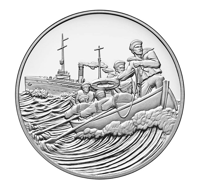 World War I Centennial Coast Guard Medal — par la Philadelphia Mint