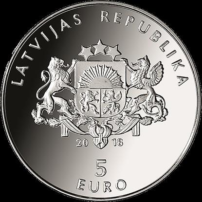 Latvian €5 silver coin 2018