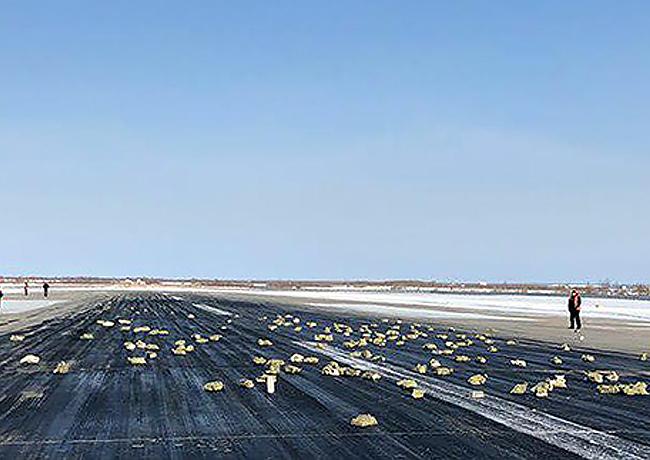 Un avion Russe perd plus de trois tonnes de lingots d'or et platine au décollage !