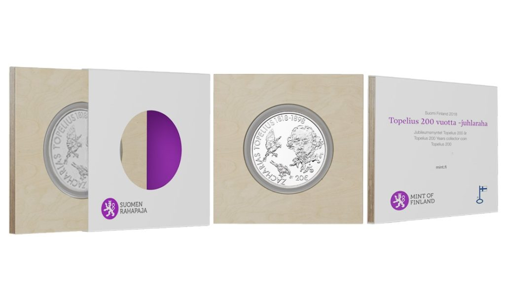 set - 2018 Finland TOPELIUS €10 and €20 commemorative coins