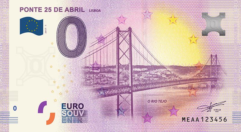 Billet Touristique 2018 0 Zero Euro Souvenir - Ponte 25 de Abril
