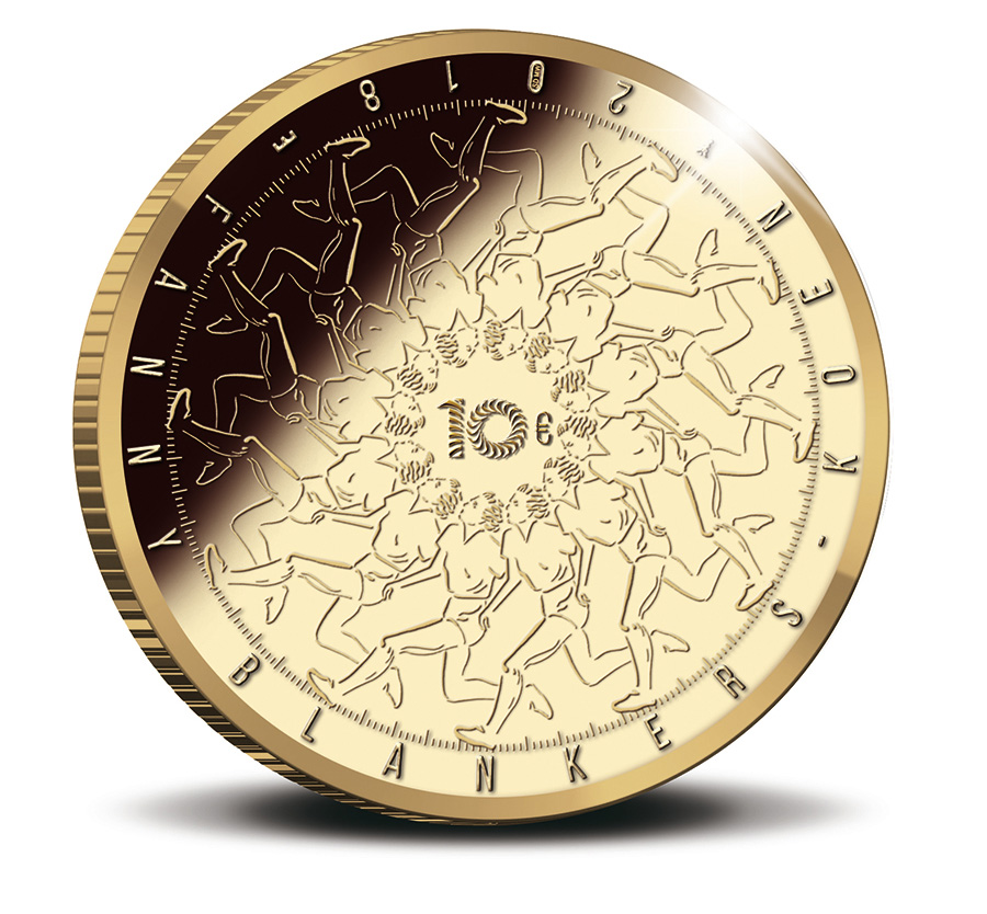 The Fanny Blankers-Koen 10 Euro Coin 2018 Gold Proof