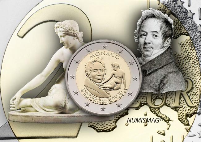 2€ Belle Epreuve MONACO 2018 dédiée à François Joseph BOSIO