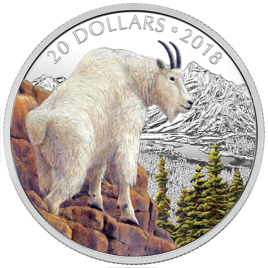 La pièce de 20 $ en argent fin 2018 – Nature majestueuse