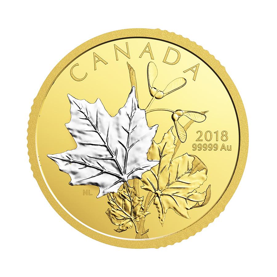pièces de 200 $ en or pur 2018
