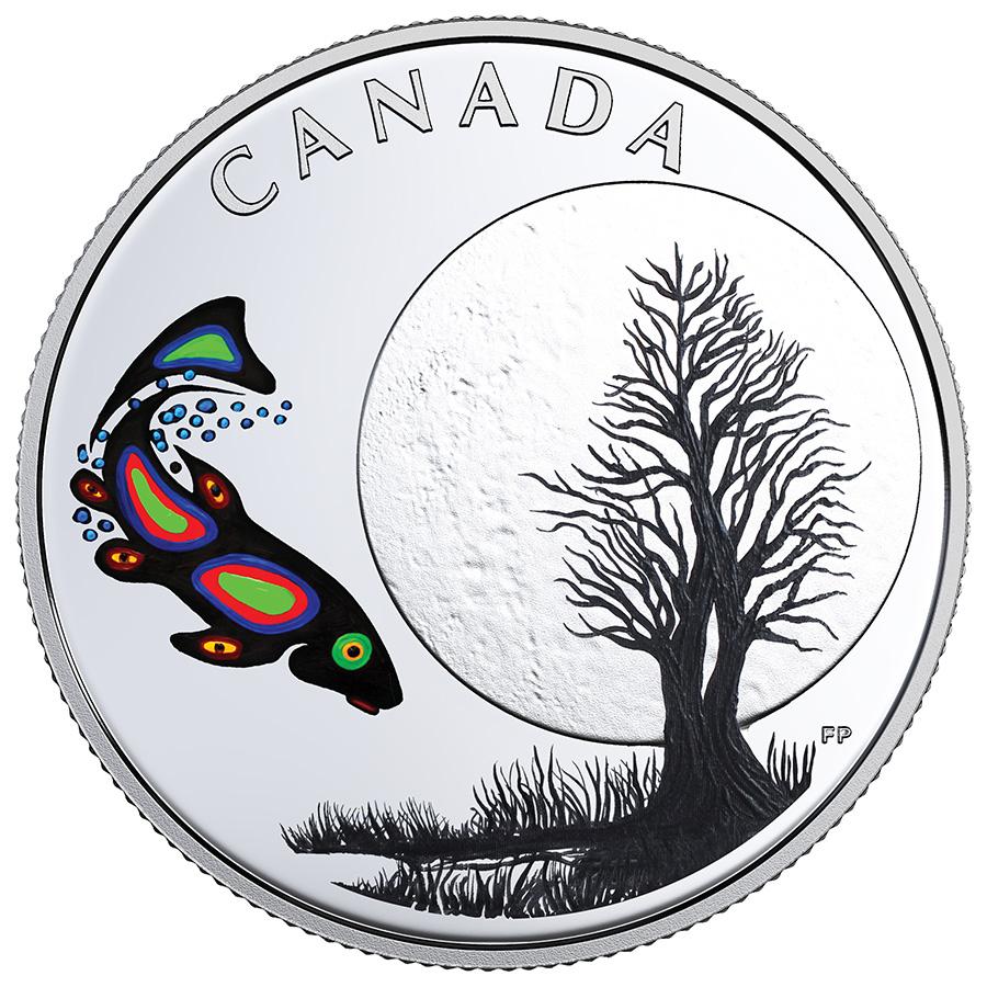 pièce de 3 $ en argent fin 2018 – Les treize enseignements de Grand-mère Lune - Canada