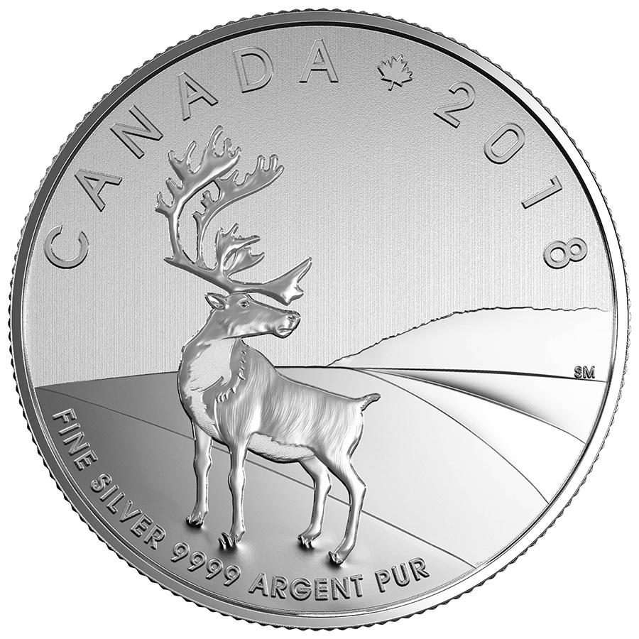 pièce de 3 $ en argent fin 2018 – Caribou Canada