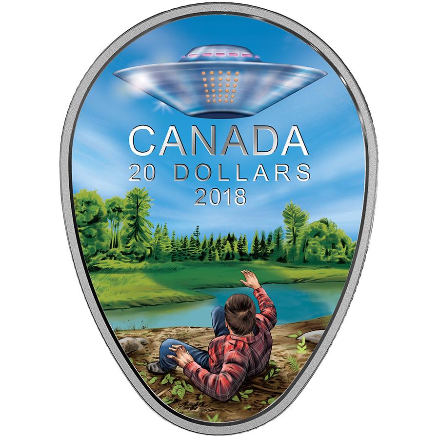 20 $ en argent fin 2018 – Mystères en terre canadienne