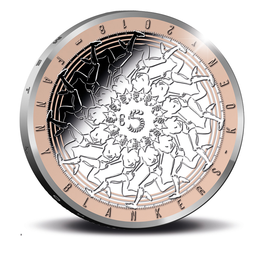 5€ Argent Fanny BLANKERS dorure rose - 2018 - monnaie des Pays-Bas KNM