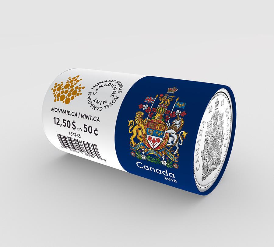Le rouleau de pièces de circulation de 50 cents (2018)
