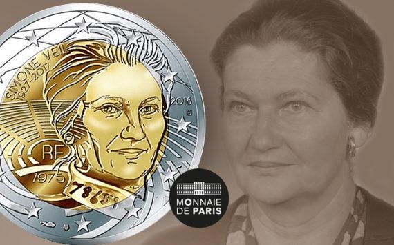 FRANCE 2018: 2€ dedicated to Simone VEIL