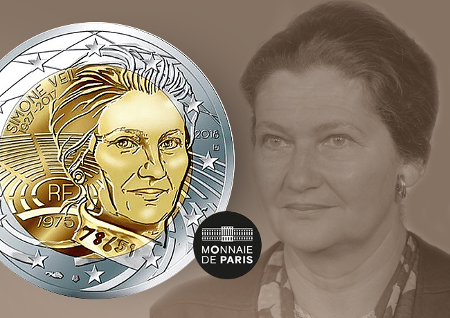 FRANCE 2018: 2€ dedicated to Simone VEIL