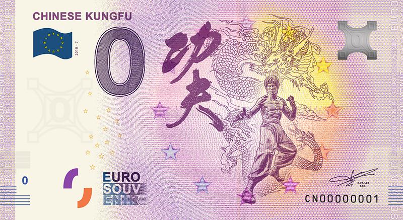 zero euro banknote - China