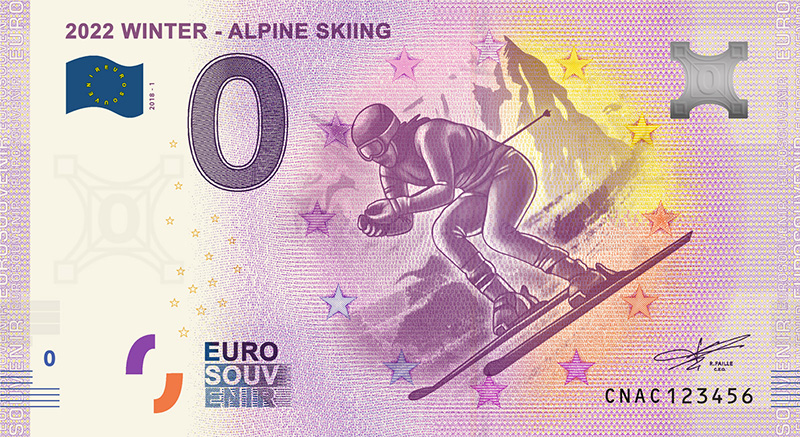 Billets 0 euro souvenir - Chine 2018 numismag