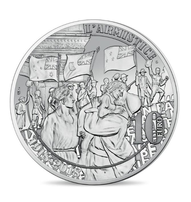 10 € Argent Liesse populaire - programme monnaie de Paris 2018