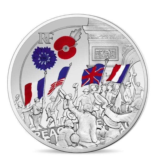 MONNAIE 10€ argent et 50€ 1/4 OZ OR Liesse populaire - programme monnaie de Paris 2018