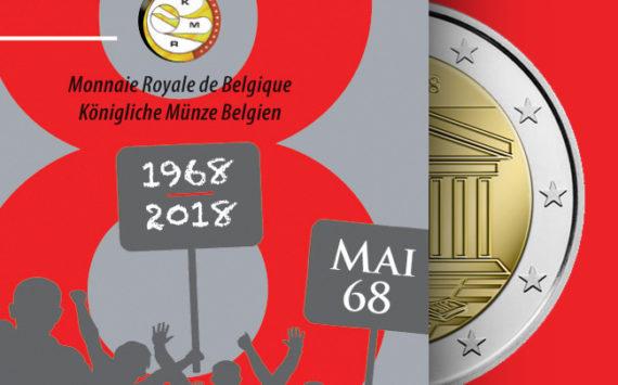 BELGIQUE: 2€ 2018 commémorant le 50ème anniversaire de MAI 1968