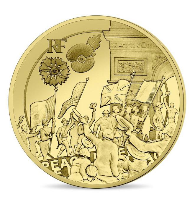 50 € Or 1/4 OZ Liesse populaire - programme monnaie de Paris 2018