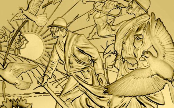 50€ OR ¼ oz Fairmined – Paix, Fin de la grande Guerre, Armistice 1918-2018 – Frappe inaugurale