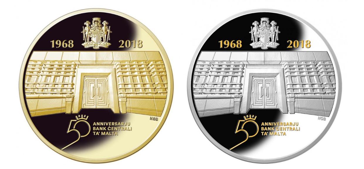 Programme numismatique maltais 2018 – une pièce euro en or très rare