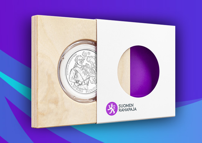Pièce commémorative de 10 euro baroque et rococo, séries Europa Star 2018 – Monnaie de Finlande