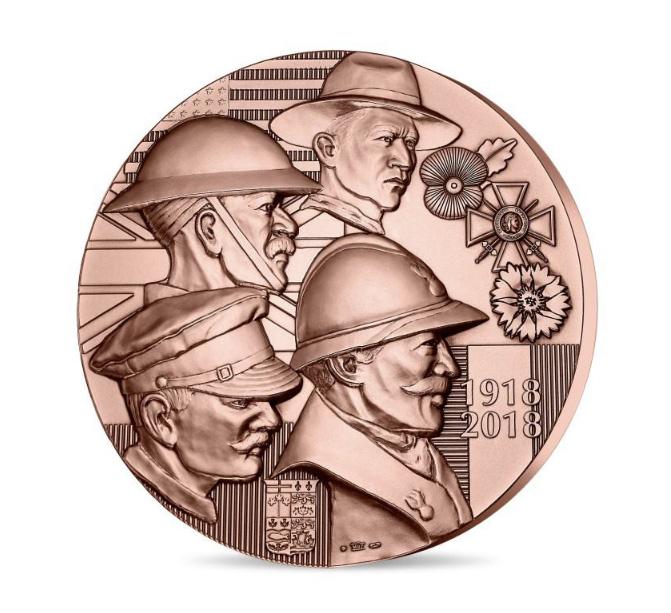 MÉDAILLE des Alliés de la Victoire - programme de la monnaie de Paris 2018