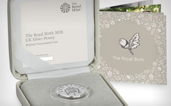 New silver penny of Royal Mint: A royal coin for a royal baby!