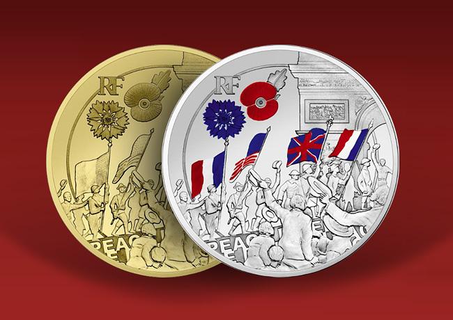MONNAIE 10€ argent et 50€ 1/4 OZ OR Liesse populaire – programme monnaie de Paris 2018