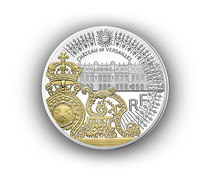 Pièces 10€ 50€ Argent grille du château de Versailles Monnaie de Paris 2018