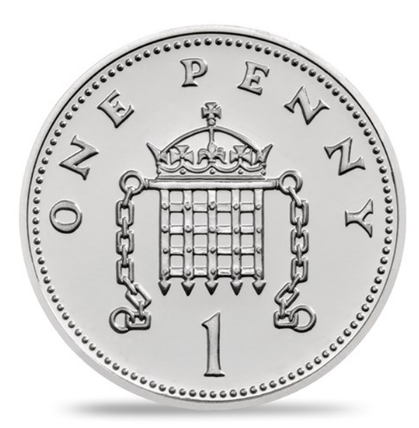 One penny - New silver penny of Royal Mint: A royal coin for a royal baby!