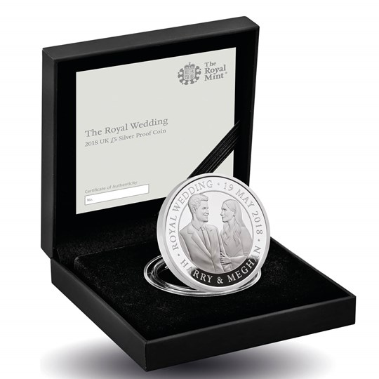 The Royal Wedding 2018 UK £5 Silver Proof Coin
