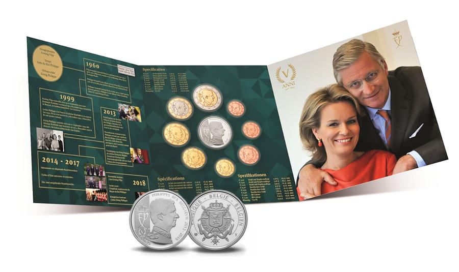 Set « Fleur de Coin » 2018 Belgique - Coffret BU Roi Philippe