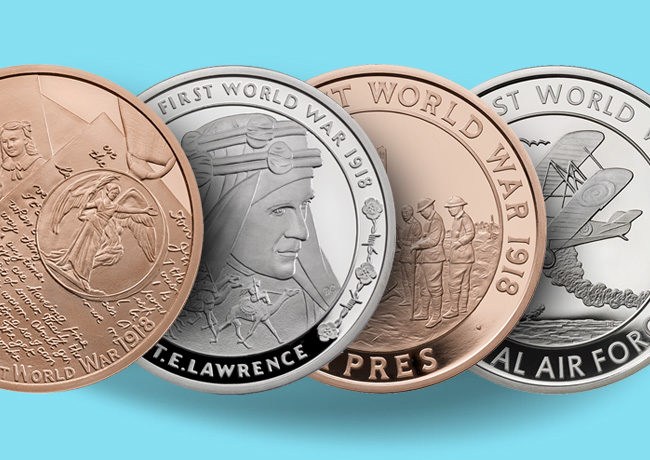 New Commemorative Six-Coin Set  2018 – First World War – Royal Mint – T. E. Lawrence