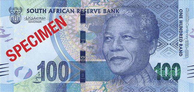 r100 South Africa: commemorative banknotes and coins for centenary of MANDELA's birth