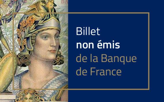 1 000 francs ATHENA type 1951 – Banque de France – Non émis