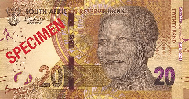 r20 South Africa: commemorative banknotes and coins for centenary of MANDELA's birth