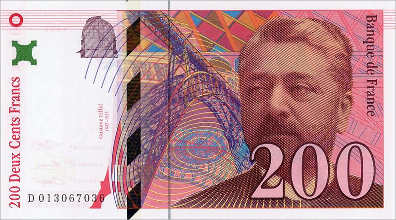 Billet remplacé par le 200 Gustave Eiffel numismag
