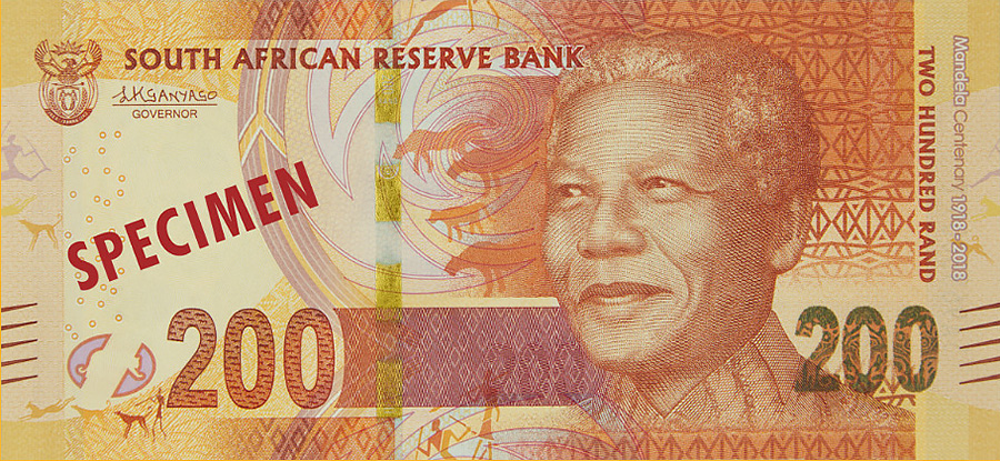 r200 South Africa: commemorative banknotes and coins for centenary of MANDELA's birth