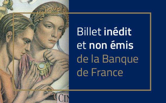 """500 francs, """"Rêverie sur un passé glorieux"""" type 1952 – Banque de France – Non émis"""