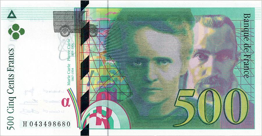 500 francs Pierre et Marie-Curie -numismag