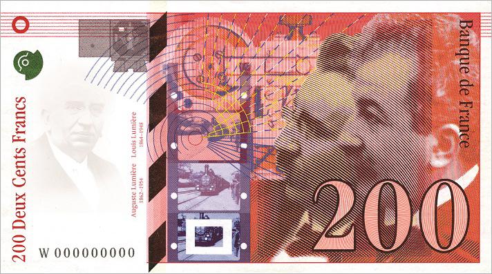 200 francs Les Frères Lumières - 1994 Numismag