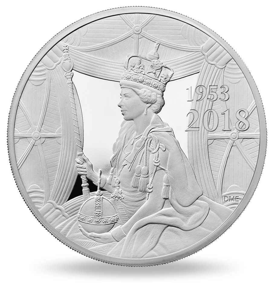 Commemorative coin 65th Anniversary of the Coronation of Her Royal Highness Queen Elizabeth II Royal Mint