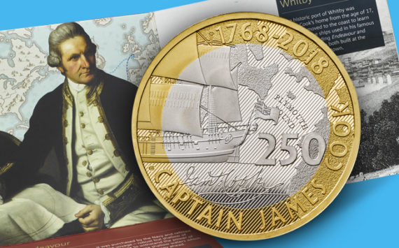 Commemorative Coins – Captain COOK celebrated by Royal Mint silver and gold coins