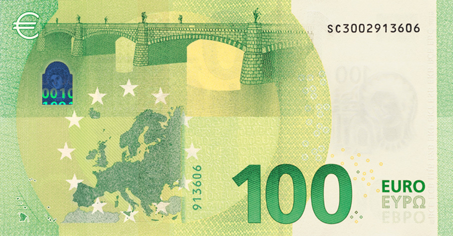 2019 New E100 And E200 Euro Banknotes Europa Series New 100 Euro Note