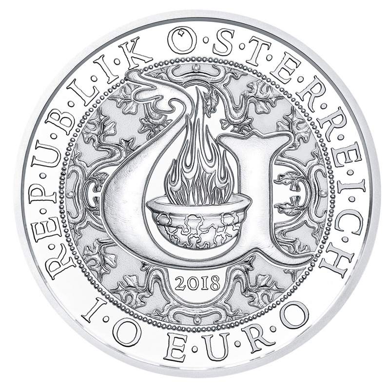 URIEL – THE ILLUMINATING ANGEL 10 EURO SILVER COIN 2018 - Austrian MINT