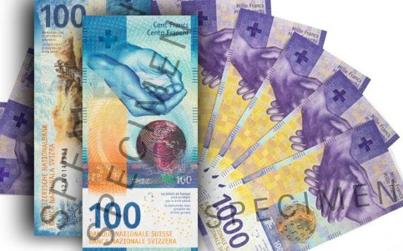 Nouvelle série de billets Suisse  10, 20, 50, 100, 200 et 1000 francs